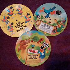 The Toucan Sam Flexi Records 33 1/3 Collection (3)Workout,Safari,& Big Race