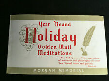 Year Round Holiday Golden Mail Meditations Booklet - Some sheets incomplete