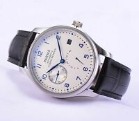 43mm Parnis Power Reserve Automatic Movement Men's Boys Casual Watch White Dial