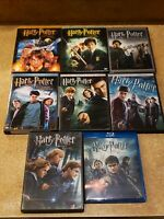 Harry Potter 1,2,3,4,5,6,7,8 Complete DVD Set Lot (NEW/LIKENEW) INDIVIDUAL CASES