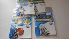 4 packs gamakatsu weedless split / drop shot hook size 4 50908 5 per pack