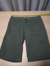 Womans Hurley Int. Casual Shorts, Green, Small, Cotton