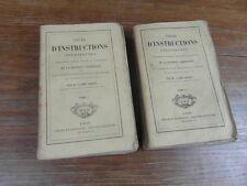 Abbé GRIDEL / COURS D INSTRUCTIONS RELIGIEUSES Complet 2 vol GIRARD LYON 1860