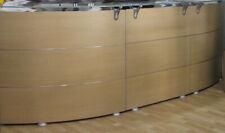 Bancone reception arredo negozio area vendita ufficio studio con vetro  Acero