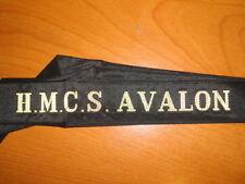 Royal Canadian Navy Cap Tally HMCS Avalon nice