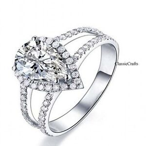 Genuine S990 silver Cubic Zirconia wedding/engagement ring Dia 14cm, 16, 18mm