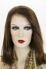 Dark Brown and Medium Auburn Brunette Medium Premium Remy Human Hair Wigs
