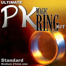 PK Magic Ring Kit - 19mm Small Sized Silver Ring - Magic Tricks - New