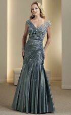 NEW MON CHERI MONTAGE 111956 MOTHER OF THE BRIDE FORMAL EVENING LONG GOWN DRESS