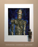 Star Wars IG-88 Vintage Kenner Action Figure ORIGINAL ART PRINT 3.75 BOUNTY