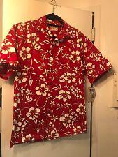 Hilo Hattie The Hawaiian Original Mens Shirt  red Vibrant Tiki  Size Small NWT