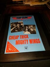 Cheap Trick Mighty Wings Rare Original Radio Promo Poster Ad Framed!