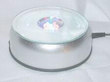 Spiegelglas  Drehteller mit 7 stromsparende LED`s   Durchmesser 10 cm.