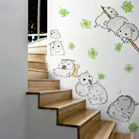 Cute Animal Wall Stickers Family Kids DIY Removable Vinyl Decal Mural Home Decor