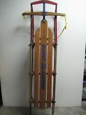 "Vintage Flexible Flyer YANKEE CLIPPER No. 14 Wood Snow Sled Sleigh 60"" Long VTG"