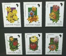 HUNGARY 1990 African Flowers: Proteas. Set of 6. Mint Never Hinged. SG3966/3971.