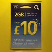o2 SIM Card: £10 Big Bundle +02 Priority Deals +Free WiFi UK Standard/Micro/Nano