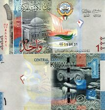 KUWAIT 1 Dinar Banknote World Paper Money UNC Currency Pick p31 2014 Bill Note