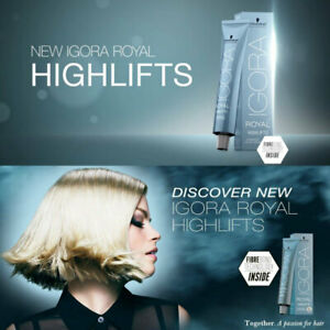 schwarzkopf igora royal true highlifts permanent blond hair color 60ml developer