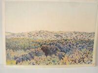 ⭐Israel Drawings Vintage By YOLA Original Pencil Art Signed Landscape Colored ⭐