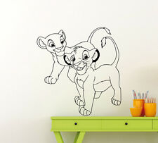 Lion King Wall Decal Simba Nala Baby Nursery Vinyl Sticker Disney Art Decor 44ct