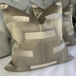 "Designer Cushion Cover 18"" John Lewis & Partners LAWSON Fabric Luxury Decor Gold"