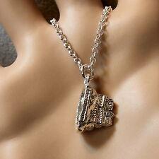new sterling silver Scottish Edinburgh castle pendant & chain