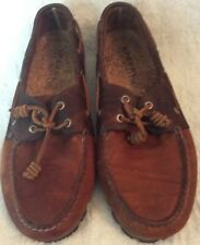 Mens 11 Sperry Top-Sider Original 2-Eye Boat Shoe Leather Brown 2-Tone 1935