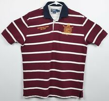 Polo Ralph Lauren Men's Sz Large Red Striped New York Embroidered Rugby Shirt