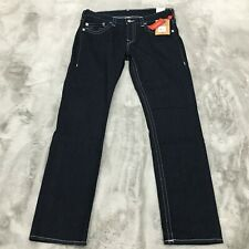 True Religion Geno Slim Naturaline Stretch Denim Jeans Body Rinse Size 36 x 34