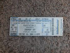 JUDGMENT DAY 2004 TICKET wwe WRESTLING