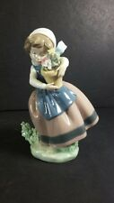 """Lladro Figurine Spring Is Here 5223 6-1/2"""" 1 chiped yellow petal"""