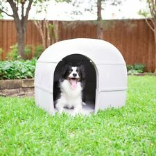 Gray Weather Protection Foam Outback Dog House Up To 90lbs with Rear Ventilation