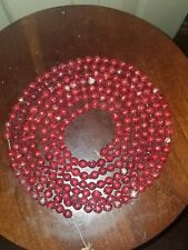 Antique Red Mercury Glass Feather Christmas Tree Garland Decoration Aprox 106""