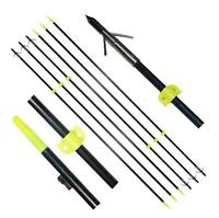 6pcs Hunting Fishing Arrows Bowfishing Archery Slingbow Shooting Fish Safe Slide