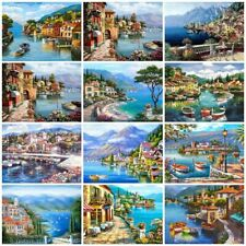 Oil Painting By Number Landscape Unframed Picture DIY Wall Art Acrylic On Canvas