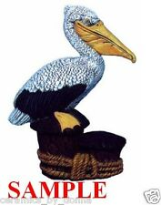 Pelican Bird CERAMIC READY to PAINT 6 1/4 inch Tall Statue figurin