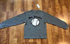 NWT Baseball Sweatshirt Boys Gymboree, Grey, Size 8