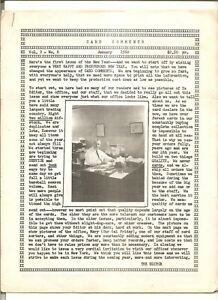 January 1960 issue of Card Comments, baseball card collecting paper