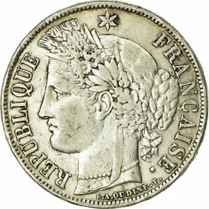 [#732045] Coin, France, Cérès, 5 Francs, 1850, Paris, VF(20-25), Silver
