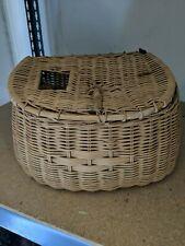 Decorative Wicker Basket Fly Fishing Creel Basket vintage 12� Cabin Den Decor
