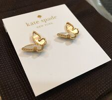 Kate Spade All A Flutter Butterfly 12K Gold Plated Studs Earrings New +Dust Bag