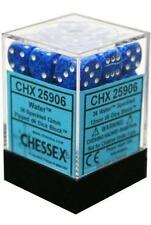 Chessex Dice d6 Sets Water Speckled Blue 36 12mm Six Sided Die CHX 25906