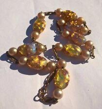 VINTAGE OPALESCENTE FOIL perle di vetro fuoco Veneziana Collana Art Deco