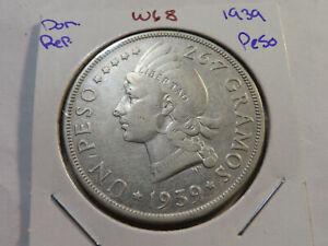 W68 Dominican Republic 1939 Peso