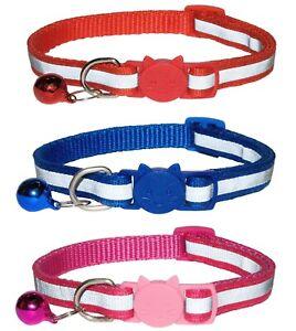 Cat Collar with Bell - Reflective Collars   Quick Release / Breakaway Buckle