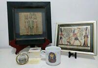 Rare Ancient Egypt Egyptian Traid of King Menacure Tutankhamen Hieroglyphics Set