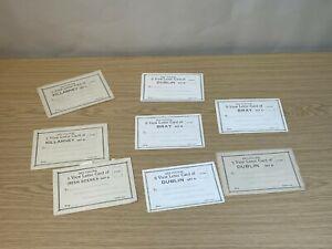 Lot of 8 X Vintage Unused Valentines Letter Cards Ireland Dublin Bray Killarney