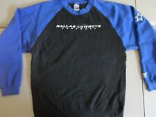 Dallas Cowboys Embroidered Raglan Crew Sweatshirt NFL Adult M Nice Black Blue