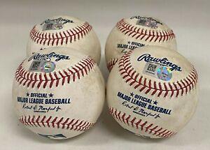 Lot of (4) New York Yankees Game Used Baseballs MLB Authentication Hologram
